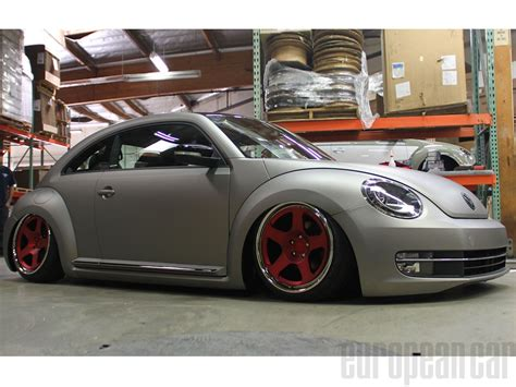 volkswagen beetle modified black sema 2012 brings custom vw beetles european car magazine