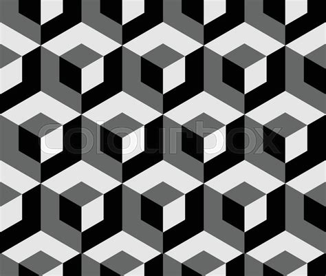 3d Pattern abstract monochrome pattern with overlapping squares