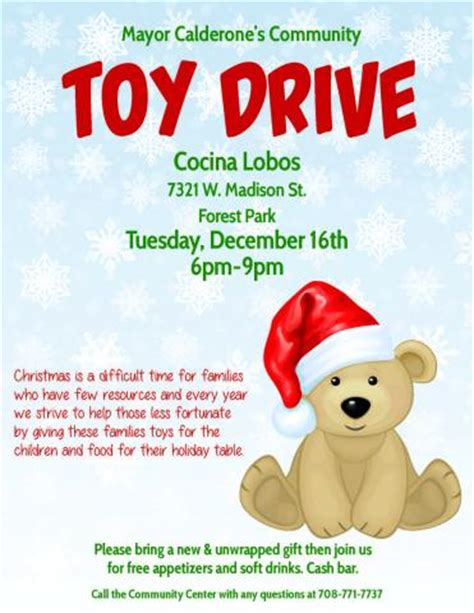 Toy Drive Archives Around Oak Park Drive Flyer Template Free