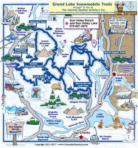 grand in colorado map grand lake snowmobile trails map colorado vacation directory