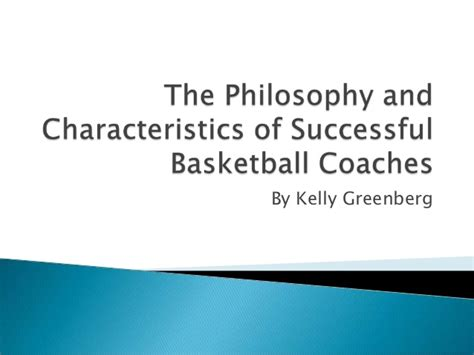 the philosophy and characteristics of successful