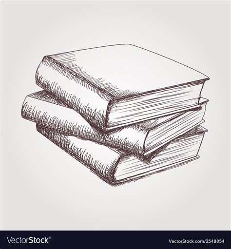 Sketches Book by Sketch Of Books Stack Royalty Free Vector Image