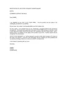 Are Offer Letters Negotiable Sle Letter Of Offer Counter Cover Letter