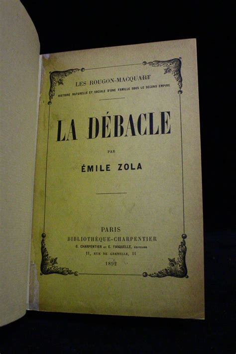 libro la debacle folio zola la d 233 b 226 cle libro autografato prima edizione edition originale com