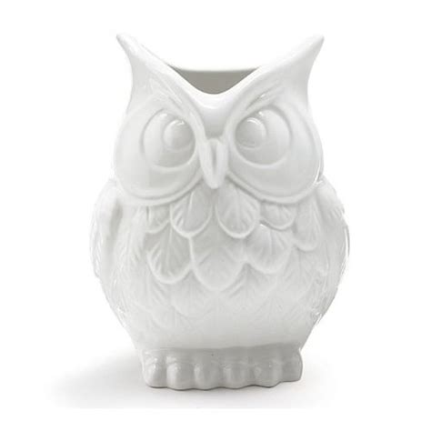 Owl Vase by White Ceramic Owl Vase Decorative Vase For