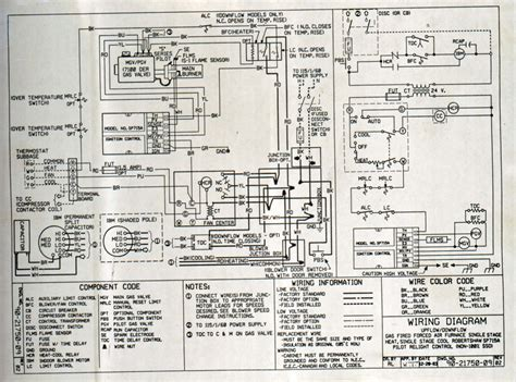 trane air conditioner wiring schematic diagram for goodman