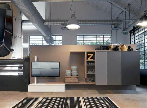 mobili contenitori soggiorno soggiorno di design con contenitore e porta tv girevole by
