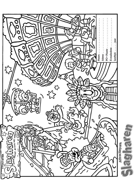 amusement park coloring pages