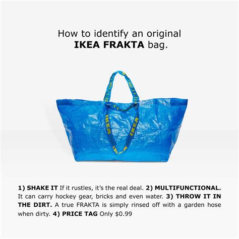 ikea frakta bags ikea calls out balenciaga s 2 145 take on its frakta bag