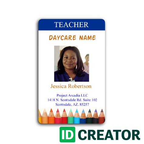 Id Card Template Publisher by Employee Id Badges Template Free Templates Resume