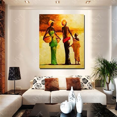 paintings to decorate home new design modern african women oil painting living room