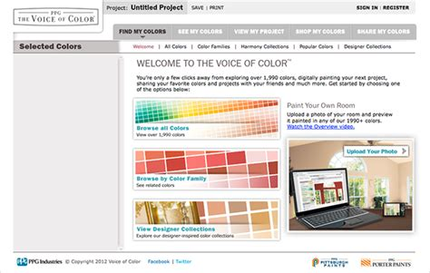 voice of color paint visualizer on behance