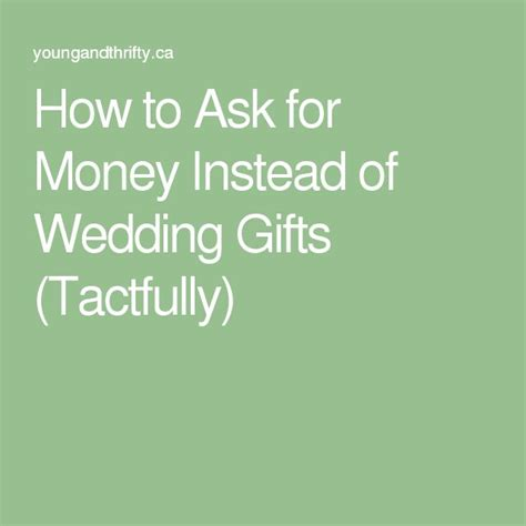 How To Ask For Money On A Wedding Invite