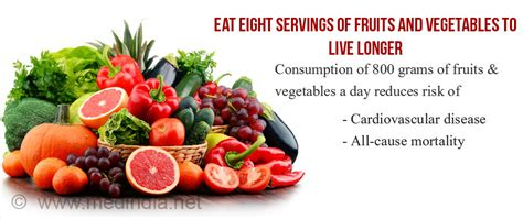 8 fruits and vegetables a day eight servings of fruits and vegetables a day can increase