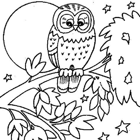owl moon coloring page owl coloring pages