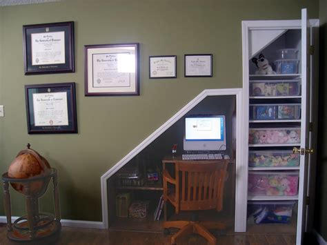 building a home office how to build an office under the stairs how tos diy