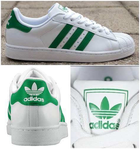 adidas superstar ii green stripes originals green