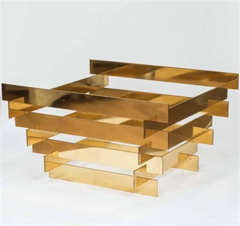 Stacked Coffee Table Solid Brass Stacked Coffee Table Base At 1stdibs