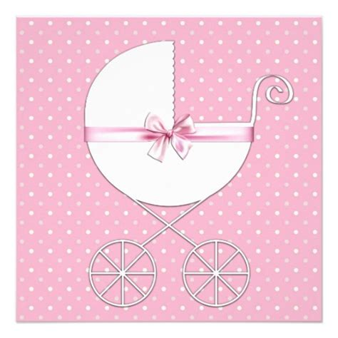 polka dots baby shower pink polka dot baby shower custom invitations zazzle