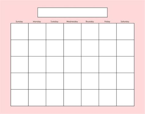 fill in calendar template free fill in blank calendar printables search results