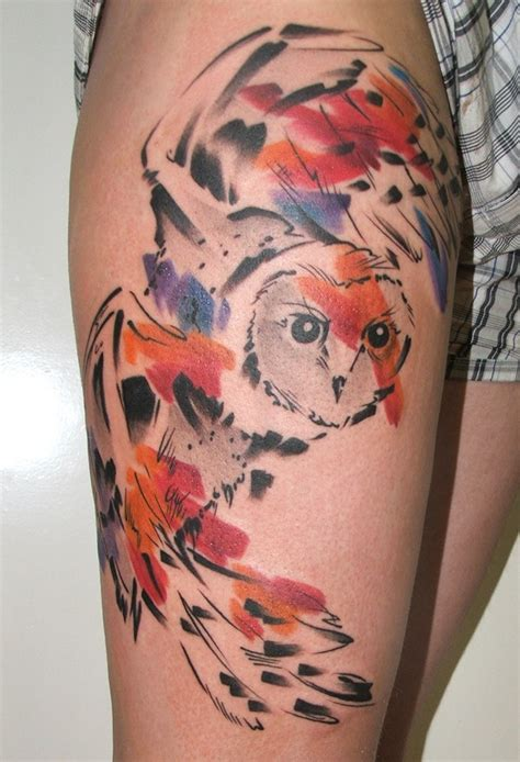 tattoo watercolor quebec owl in flight watercolor tattoos pictures to pin on