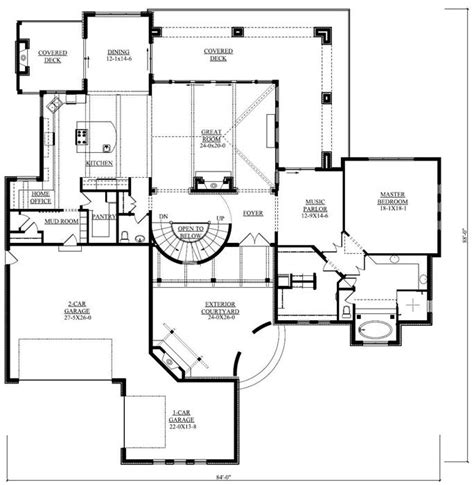 hennessey house 7805 4 bedrooms and 4 baths the house great home plan pictures gt gt duplex house plans in