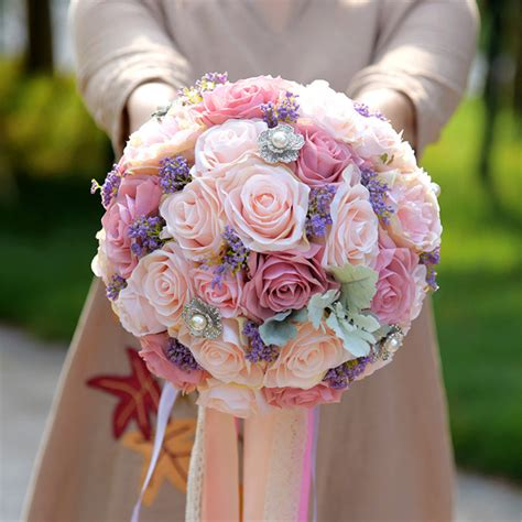 Bridal Bouquet Prices by Beautiful Wedding Flowers Ribbon Bouquet Bridal