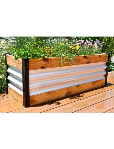 raised bed planter corrugated metal and wood raised bed garden beds