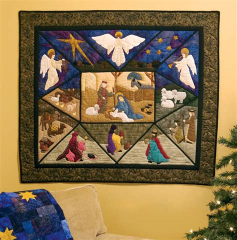 Nativity Quilt Pattern by Nativity Quilt Patterns The New Quilting Design