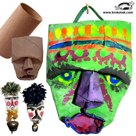 Crafts With Empty Toilet Paper Rolls - krokotak empty toilet roll masks