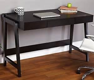 black computer desk modern simple desktop laptop