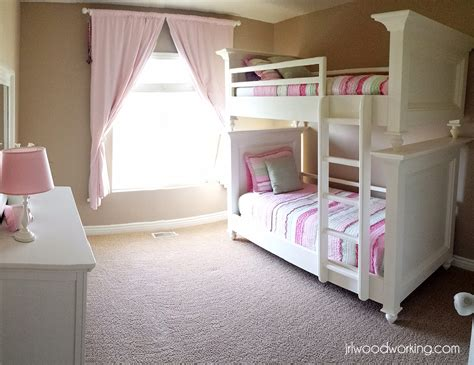 ana white bunk beds twin size  raised panel diy