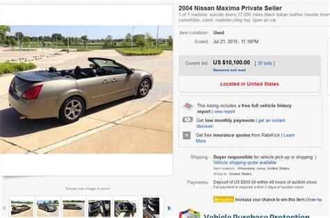 convertible nissan maxima 2004 nissan maxima convertible is a strange ebay find