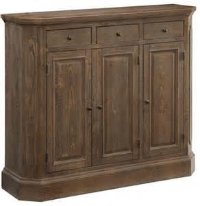 cayhill distressed brown 3 door media cabinet 78615