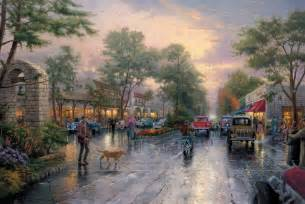 home interiors kinkade prints sunset on avenue limited edition the