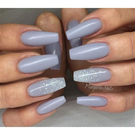 grey coffin nails margaritasnailz pinterest coffin