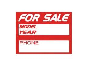 Vehicle For Sale Sign Template by The Decal Shoppe High Performance Car Stripes