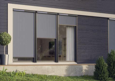 tende oscuranti per finestre esterne soluzione ombreggiante esterna per finestre verticali