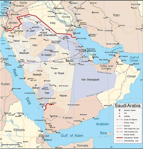 arabia map saudi arabia map