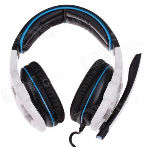 Murah Earcup Sades 903 Blue sades sa 903 multifuncionais stereo headphones w microfone para computador preto branco