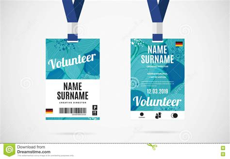Press Pass Tag Illustration Design Royalty Free Cartoon Cartoondealer Com 41441537 Volunteer Badge Template