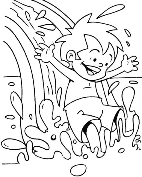 coloring pages of water slides water park coloring pages az coloring pages