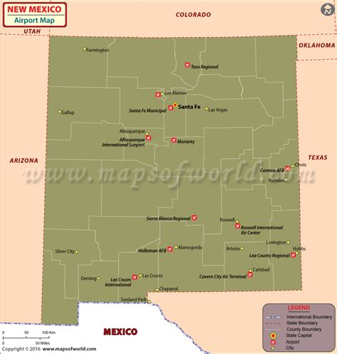 map mexico airports new mexico international airports