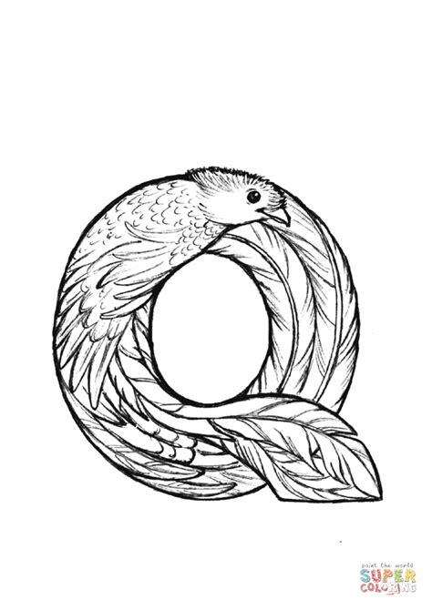 quetzal bird coloring page quetzal coloring page coloring page for kids