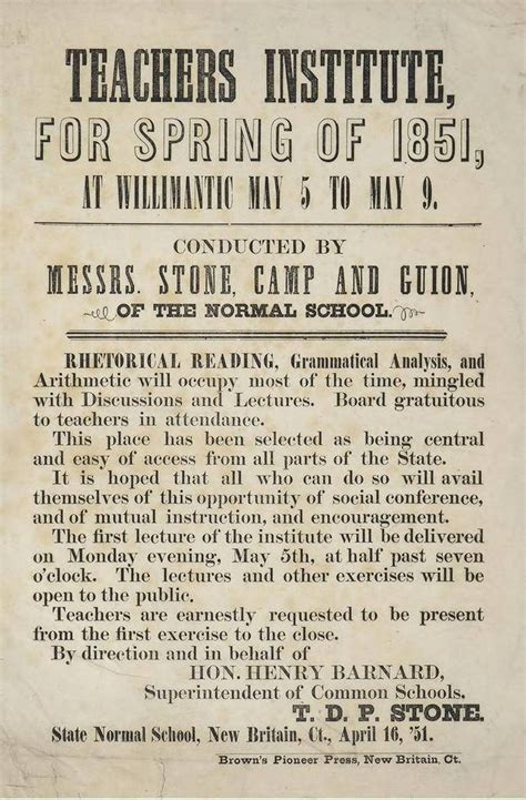 the school history of common school education in henry barnard advances state and national education