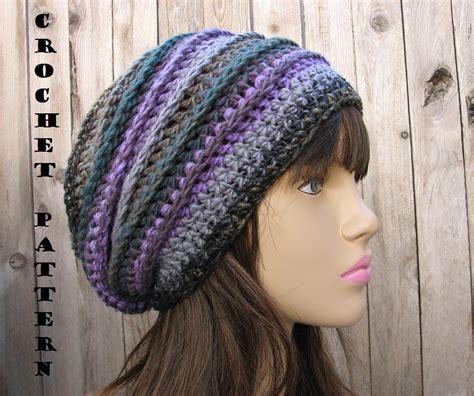 pattern for simple crochet hat crochet pattern crochet hat slouchy hat crochet