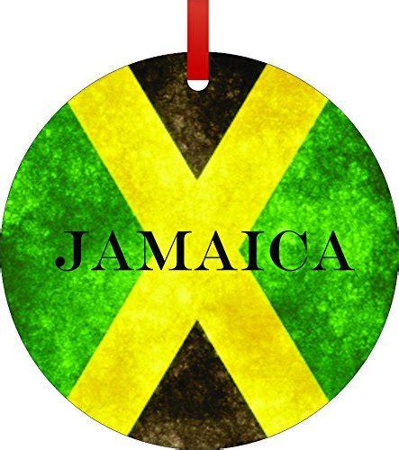 jamaican flag jamaica flat round shaped aluminum christmas