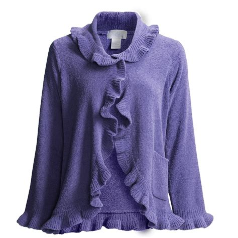 softies by paddi murphy ruffle bed jacket chenille for