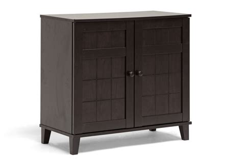 baxton studio glidden brown wood modern shoe cabinet