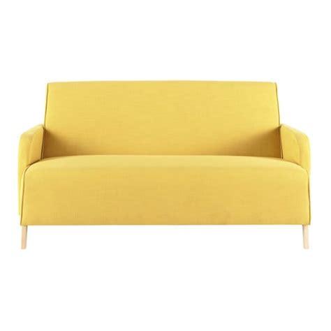 Beau Petit Canape Pour Chambre Ado #3: canape-2-places-en-tissu-jaune-adam-500-15-5-146334_2.jpg